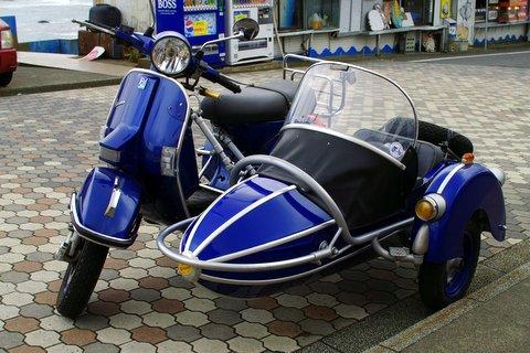 ベスパ with サイドカーで犬吠埼へ
