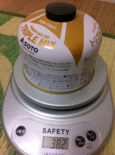 SOTO OD缶の重さ