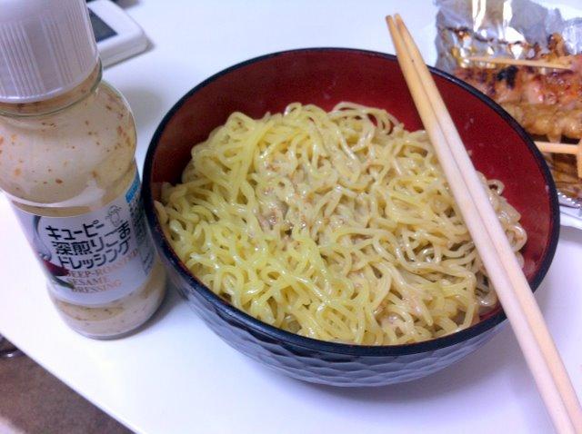 ラーメンサラダ野菜抜き麺多め