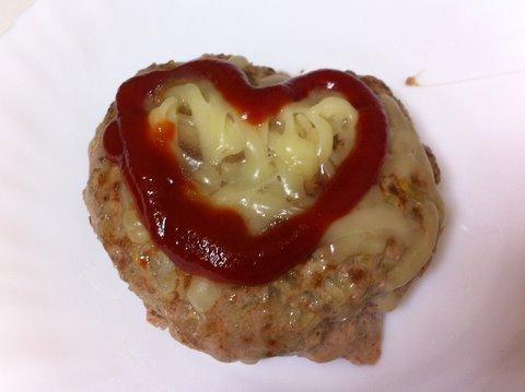 バレンタインハンバーグ